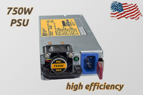 HP HSTNS 750W Gold-Platinum Power Supply 100-240V PSU ASIC 506821 506822 DPS-750