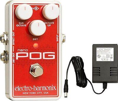 new electro harmonix nano pog polyphonic octave generator effects pedal ehx 683274011653 ebay. Black Bedroom Furniture Sets. Home Design Ideas