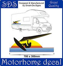 MOTORHOME VINYL GRAPHICS STICKERS DECAL CAMPER VAN RV CARAVAN 70cm x 30cm SURFER
