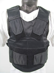 COVER-ONLY-Ex-Police-Stab-amp-Bullet-Proof-Vest-Body-Armour-Overt-Covert-J4-S8