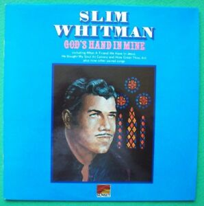 SLIM-WHITMAN-SIGNED-COVER-Vinyl-12-034-LP-God-039-s-hand-in-mine