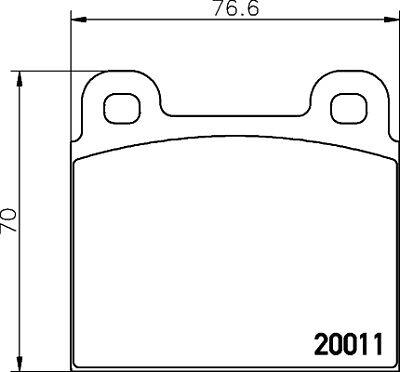025 200 1115 Meyle plaquettes de frein set fit WVA