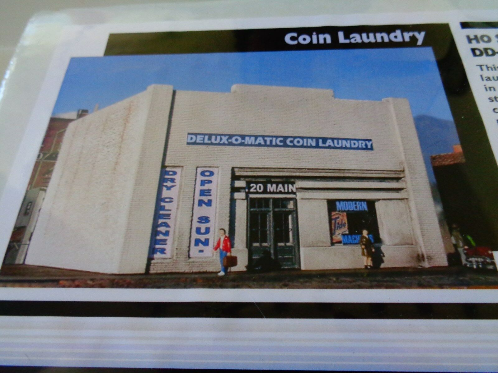 DOWNTOWN DECO - COIN LAUNDRY LIMITED DD-1028  - HYDROCAL - 1 87  HO
