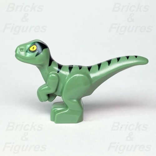 New Jurassic World LEGO® Baby Raptor with Dark Green Stripes Dinosaur 75938
