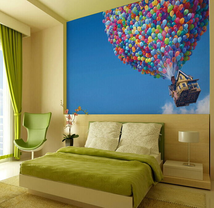 3D Ballon War auf das Haus 79 Fototapeten Wandbild Fototapete BildTapete Familie