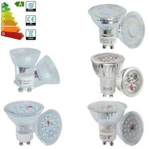 10-4x-Ampoules-LED-GU10-3W-4W-5W-6W-7W-Reflecteur-Spot-Lumiere-Blanc-Chaud-Blanc