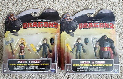 How To Train Your Dragon 2 Astrid Hiccup Hiccup Drago 2 Packs Spin Master Ebay