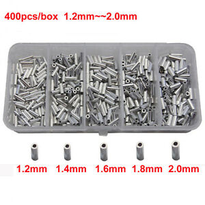 Sports Assembly Fishing Tools Set Tube Tackle Metal Line Crimp Sleeves Accessory