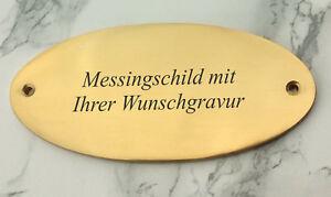 MESSINGSCHILD-Tuerschild-Namenschild-oval-135x65mm-mit-Ihrer-WUNSCHGRAVUR