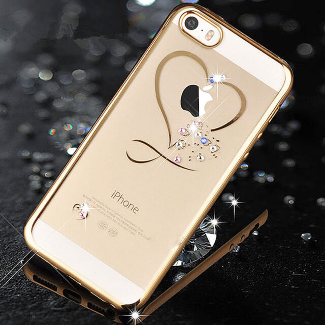 Luxury Diamond Glitter Shockproof TPU Soft Case Cover For Apple iPhone 6 6s Plus