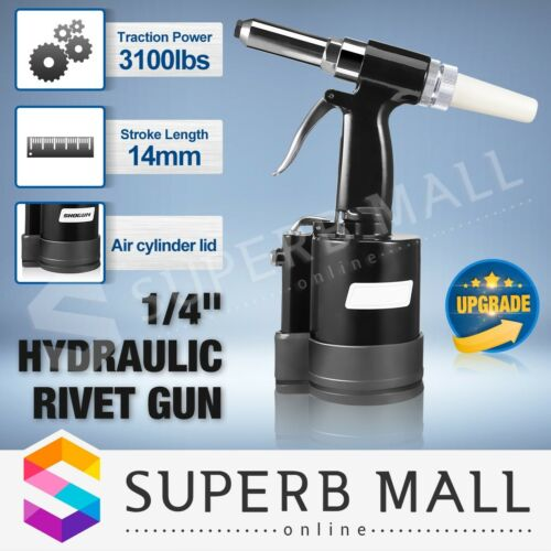 Rivet Gun Air Hydraulic Pop Rivnut Riveter Nut Nutsert Gun Pneumatic Tool Set
