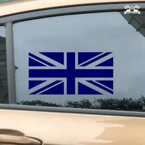 Details About Uk British Flag Union Jack Britain Car Sticker Blue Vinyl Decal 2 6 16
