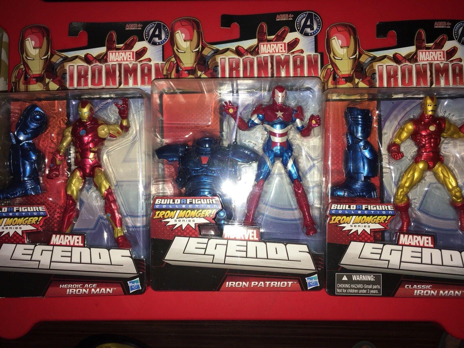 Marvel - legenden ironman - satz von 3 eine abbildung sammlung neue ausgezeichnete condtion