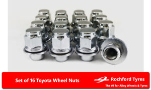 20 x Black Hex Wheel Nuts M12x1.5 Fits Toyota Auris Verso Avensis Verso