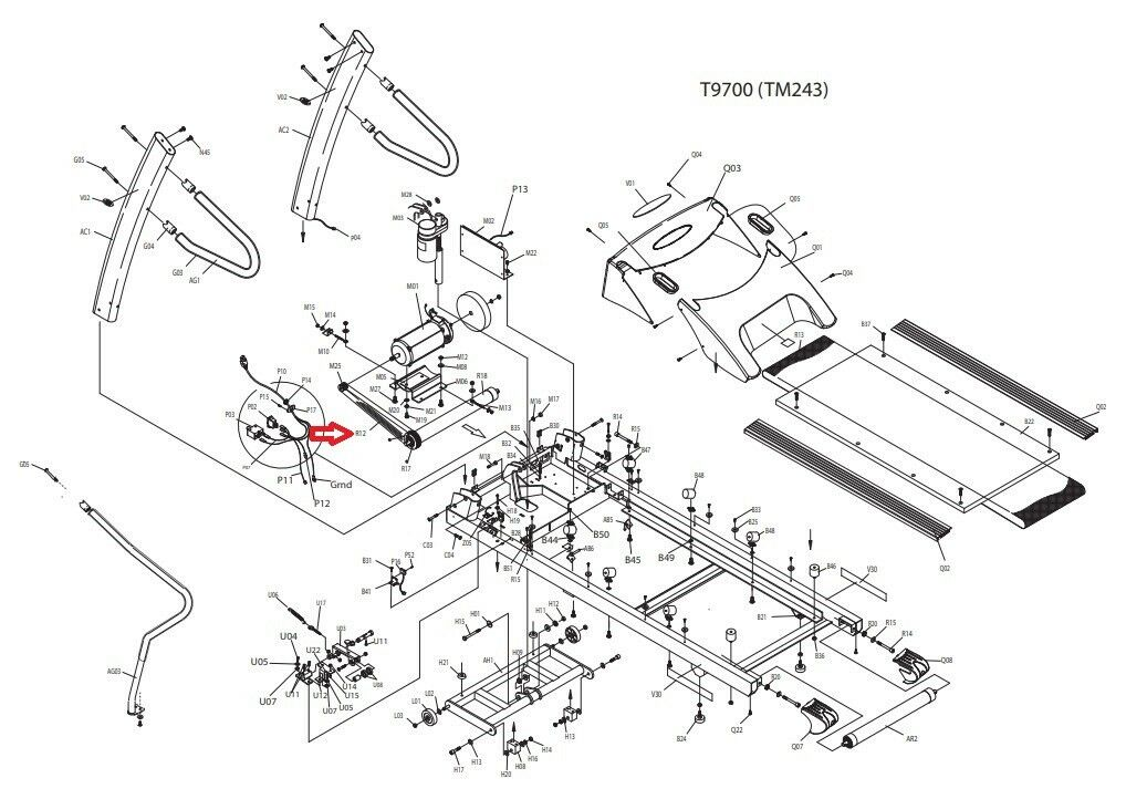 Johnson Vision Fitness T9700 T9500 Treadmill Commercial Drive Motor