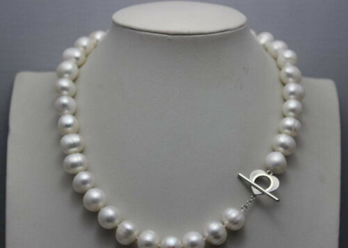 Fresh Water Pearl Necklace White nearround 10-11 mm 18 pouces jn1836