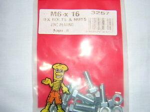 SET-OF-8-M6-X-16-HEX-BOLTS-AND-NUTS-FULL-THREAD-F-U-M-TOOLS-FUM