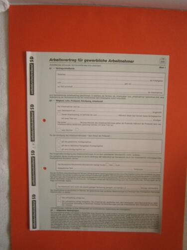 Arbeitsvertrag für gewerbliche Arbeitnehmer RNK 542 selbstdurchschreibend
