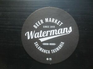 1 only WATERMAN,S  BREWERY Tasmania special Issue Beer COASTER