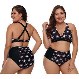 0b5d2f26af577 Traje de baño de tallas grandes estrellado negro bikini mujer ...