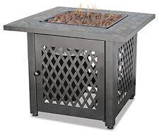 Blue Rhino FIRE PIT, Outdoor Fireplace Slate Mantel 30 Inch GAS FIRE PIT