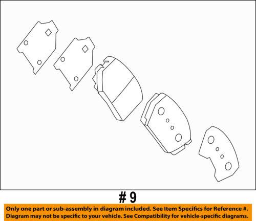 KIA OEM 13-15 Optima Brake-Front Pads 581014CA10