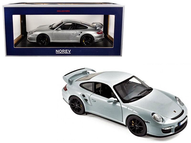 118 Norev 2007 PORSCHE 911 GT2 CON RUOTE NERO modelloLO DIECAST argentoo 187594