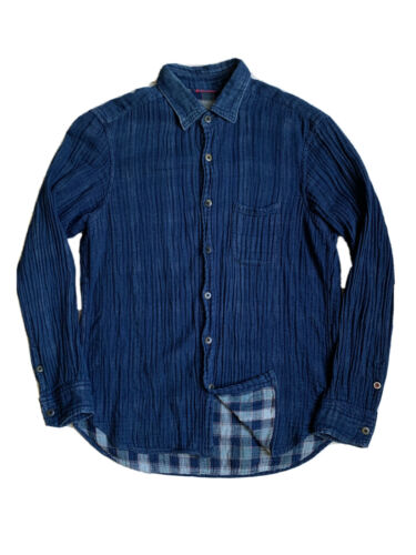 45rpm Japanese Indigo Flannel Lined Button Down Sh