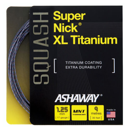 Ashaway super Nick XL TI 1,25 mm 17 squash cordes set