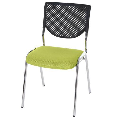 Füße chrom Konferenzstuhl Textil 4x Besucherstuhl H401 Sitz grün