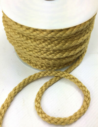 AP 8mm Matt Twisted Piping Cord Uphostery Furnishing Trim Sold Per Metre