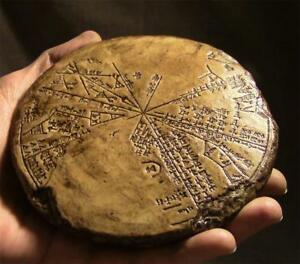 SUMERIAN CUNEIFORM STAR CHART ASTROLABE Sodom & Gomorrah Tablet ancient replica