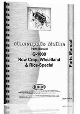 Parts Manual Minneapolis Moline G1000 Row Crop Tractor Sn R2112b