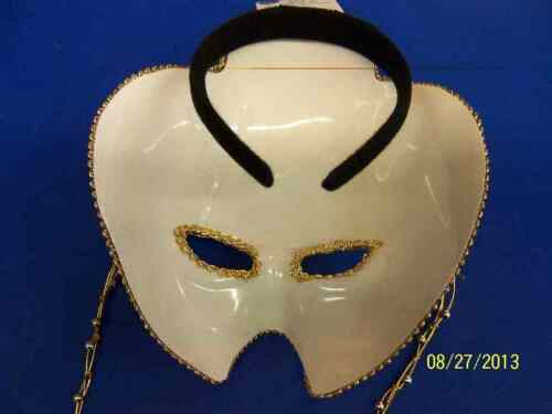 Gold w//Beads Venetian Mask Prom Masquerade Carnival Halloween Costume Accessory