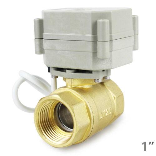 "HSH-Flo 1/"" DN25 2 Way  Brass Motorized Ball Valve 1 Inch Electrical Ball Valve"