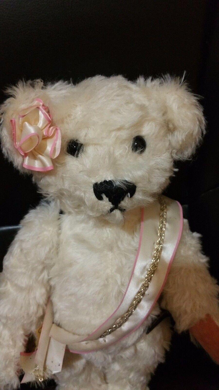 Princess 14  Wool stuffed 100% Mohair Germany Handmade Bear by Johanna Haida LMT