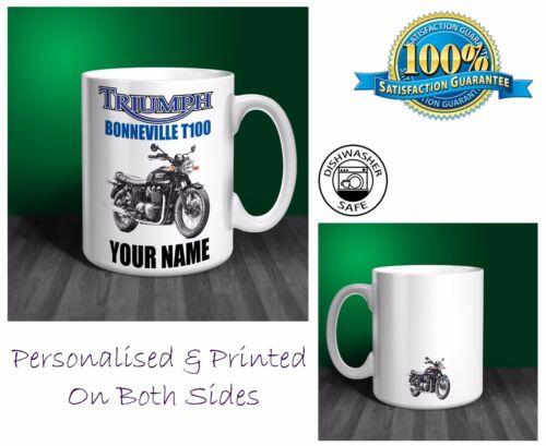 Triumph bonneville T100 moto personnalisé mug céramique cadeau MB044