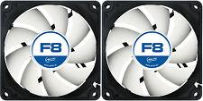 2 x ARCTIC F8 80MM 8CM PC Gaming case fan silenziosa, HIGH PERFORMANCE 6 anno Warr