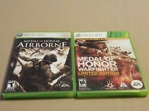 Lot-of-2-Xbox-360-Games-Medal-of-Honor-Airborne-and-Warfighter-Limited-Edition