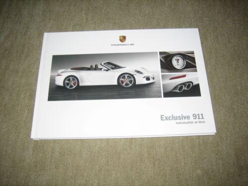 991 42 pagine Hardcover prospetto brochure di 10//2011 PORSCHE 911 Exclusive