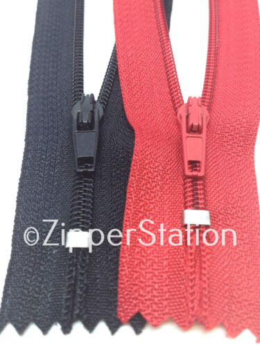 For Dress Upholstery Craft /& Zip Repair 50 Assorted Nylon Closed End Zips