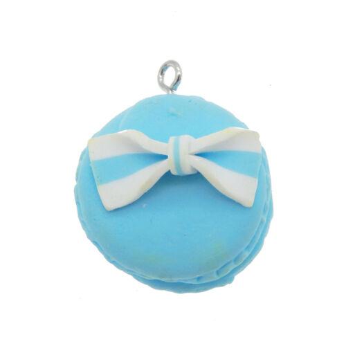 10PCs Polymer Clay Handmade Macaroon Pendant Charms Kawaii DIY Jewelry Necklace