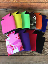 LOT of 50 Blank Beer Soda Can Holder Foam Can Holders Huggies 10 Assorted COLORS