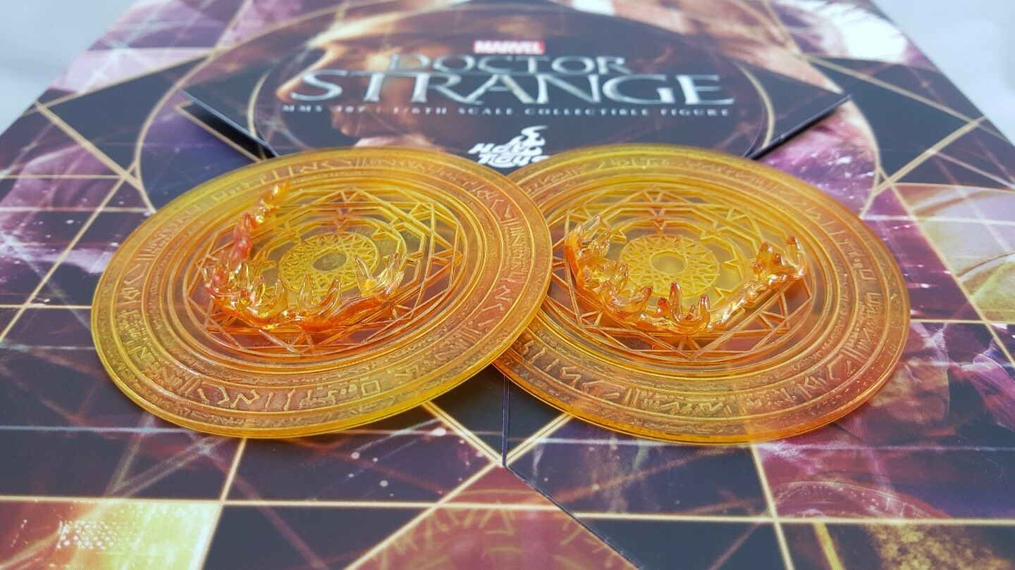 Hot Toys Genuine MMS387 Marvel 1:6 Strange action Figure's Orange Mandala Discs