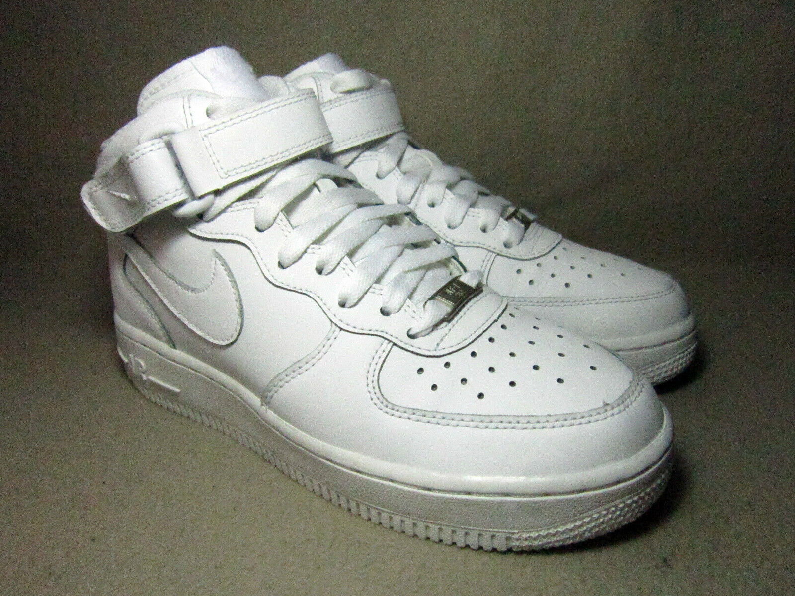 VGC NIKE AIR Obliger 1 MID 36.5 Junior blanc Leather Trainers4/EU 36.5 MID 24f946