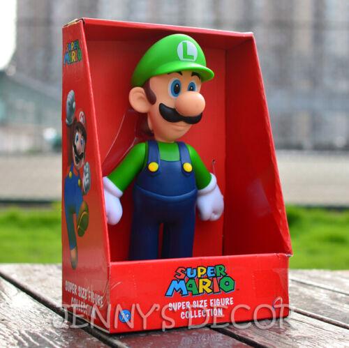 "Super Mario Brothers Toys Large Size 9/"" Luigi Action Figure"