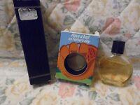 Avon Black Suede .50 Oz Mini Cologne Splash & Triumph .9 Oz Spray Fathers Day Gi