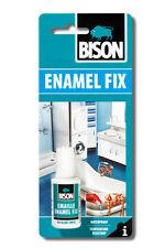 2 x SMALTO BISON Kit di riparazione Fix bianco per ritocchi su fixchip Bagno Lavandino 20ml