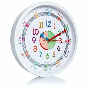 Clockminster Time Teacher Silent Kids Wall Clock Child Bedroom ...