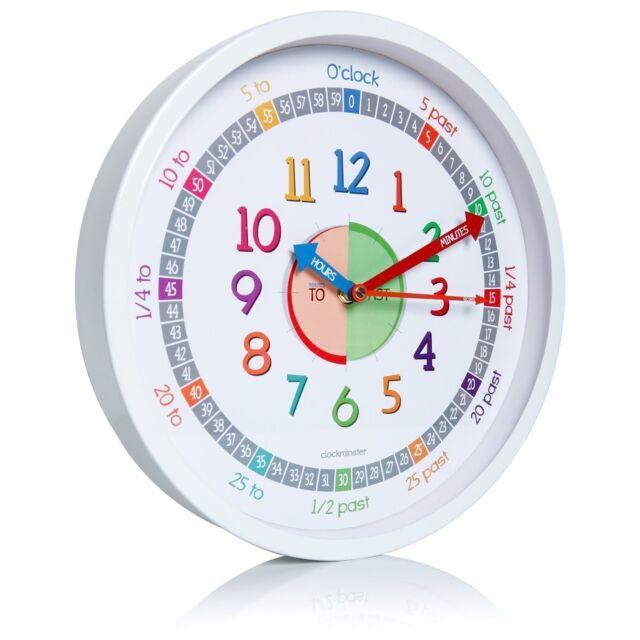 Clockminster Time Teacher Silent Kids Wall Clock Child Bedroom Children Non Tick